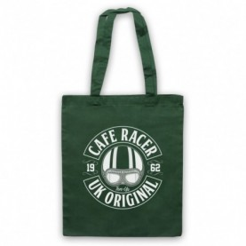 Cafe Racer UK Original Motorcycle Ton Up Dark Green Tote Bag