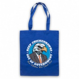 Keep Chickenhawks Out Of Government Political Slogan Royal Blue Tote Bag