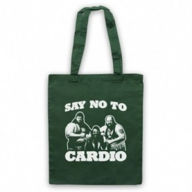 Say No To Cardio Earthquake Typhoon Wrestlers Dark Green Tote Bag
