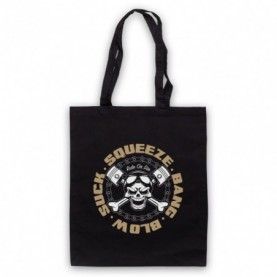Suck Squeeze Bang Blow Ride Or Die Four Stroke Engine Black Tote Bag