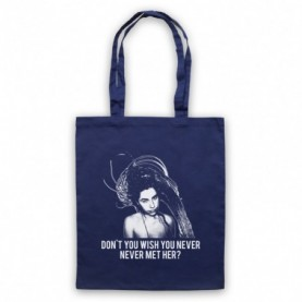 PJ Harvey Rid Of Me Navy Blue Tote Bag