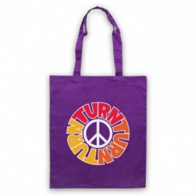 Byrds Turn Turn Turn Purple Tote Bag