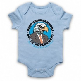 Keep Chickenhawks Out Of Government Political Slogan Light Blue Baby Grow