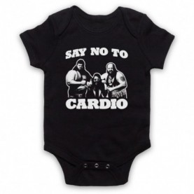 Say No To Cardio Earthquake Typhoon Wrestlers Black Baby Grow