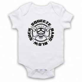 Suck Squeeze Bang Blow Ride Or Die Four Stroke Engine White Baby Grow
