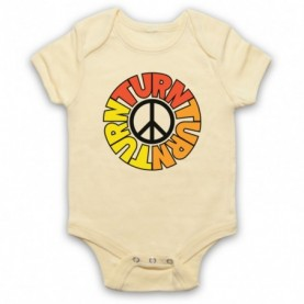 Byrds Turn Turn Turn Light Yellow Baby Grow