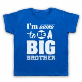 I'm Going To Be A Big Brother Kids Royal Blue T-Shirt