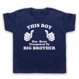 This Boy Has Been Promoted To Big Brother Kids Navy Blue T-Shirt