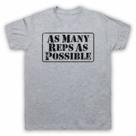 As Many Reps As Possible Crossfit Bodybuilding Slogan Mens Heather Grey T-Shirt