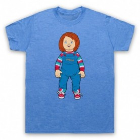 Child's Play Chucky Doll Mens Heather Blue T-Shirt
