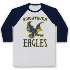 Brightburn Eagles Adults White And Navy Blue Baseball Tee