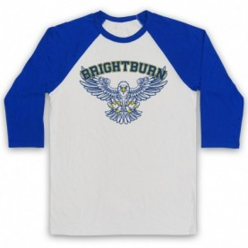 Brightburn Eagles Physical Education PE Gym Logo Adults White And Royal Blue Baseball Tee