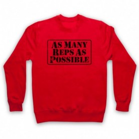 As Many Reps As Possible Crossfit Bodybuilding Slogan Adults Red Sweatshirt