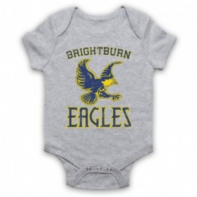 Brightburn Eagles Heather Grey Baby Grow