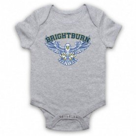 Brightburn Eagles Physical Education PE Gym Logo Heather Grey Baby Grow