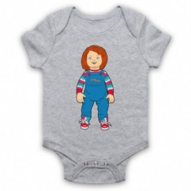 Child's Play Chucky Doll Heather Grey Baby Grow