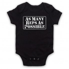 As Many Reps As Possible Crossfit Bodybuilding Slogan Black Baby Grow