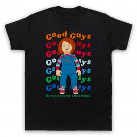 Child's Play Good Guy Chucky Doll Mens Black T-Shirt