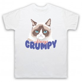 Grumpy Cat Always Grumpy Mens White T-Shirt