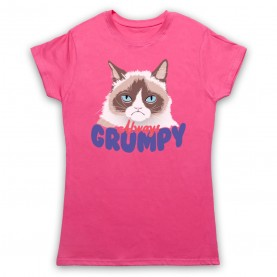Grumpy Cat Always Grumpy Womens Pink T-Shirt
