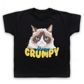 Grumpy Cat Always Grumpy Kids Black T-Shirt