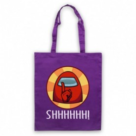 Among Us Shhhhh! Imposter Purple Tote Bag