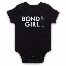 James Bond Bond Girl Black Baby Grow