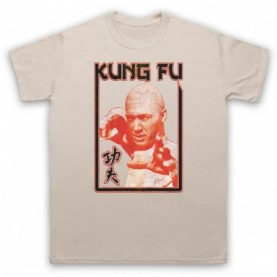 David Carradine Kung Fu Mens Sand T-Shirt