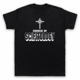 Church Of Scifitology Sci-Fi Lover Parody Mens Black T-Shirt