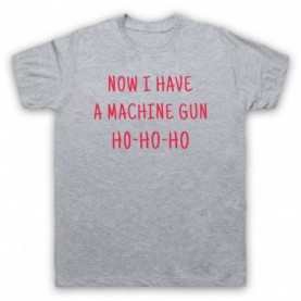 Die Hard Now I Have A Machine Gun Ho Ho Ho Mens Heather Grey T-Shirt