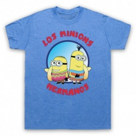 Los Minions Hermanos Funny Breaking Bad Pollos Parody Mens Heather Blue T-Shirt