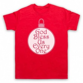 A Christmas Carol God Bless Us Every One Mens Red T-Shirt
