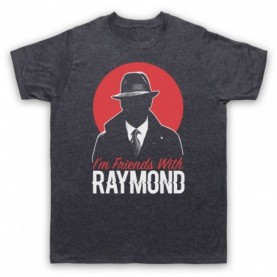 Blacklist I'm Friends With Raymond Mens Heather Slate T-Shirt