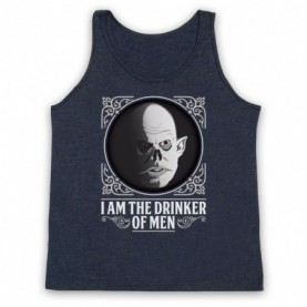 Strain The Master Adults Heather Navy Blue Tank Top