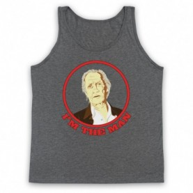 David Carradine I'm The Man Adults Heather Grey Tank Top