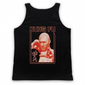 David Carradine Kung Fu Adults Black Tank Top