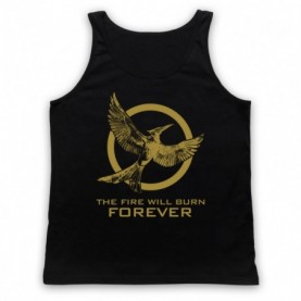 Hunger Games Mockingjay 2 The Fire Will Burn Forever Adults Black Tank Top