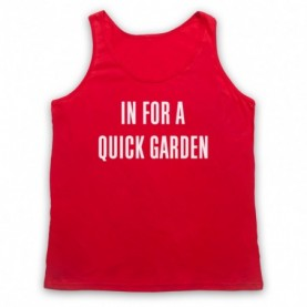 Led Zeppelin In For A Quick Garden Fanedit Concert Adults Red Tank Top