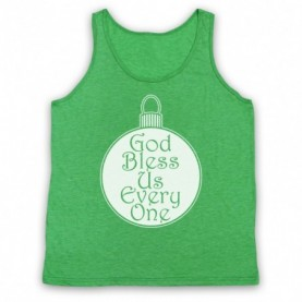 A Christmas Carol God Bless Us Every One Adults Heather Green Tank Top