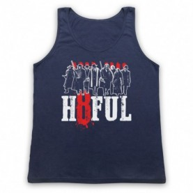 Hateful Eight H8ful Characters Adults Navy Blue Tank Top