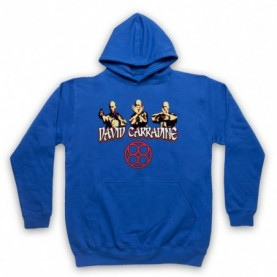 David Carradine Kung Fu 3 Poses Adults Royal Blue Pullover Hoodie
