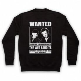 Home Alone The Wet Bandits Wanted Poster Adults Black Sweatshirt