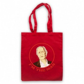 David Carradine I'm The Man Red Tote Bag
