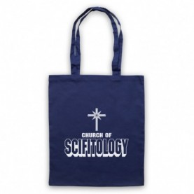 Church Of Scifitology Sci-Fi Lover Parody Navy Blue Tote Bag