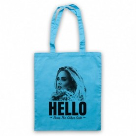 Adele Hello Light Blue Tote Bag