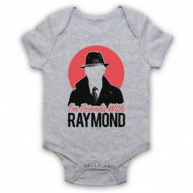 Blacklist I'm Friends With Raymond Heather Grey Baby Grow