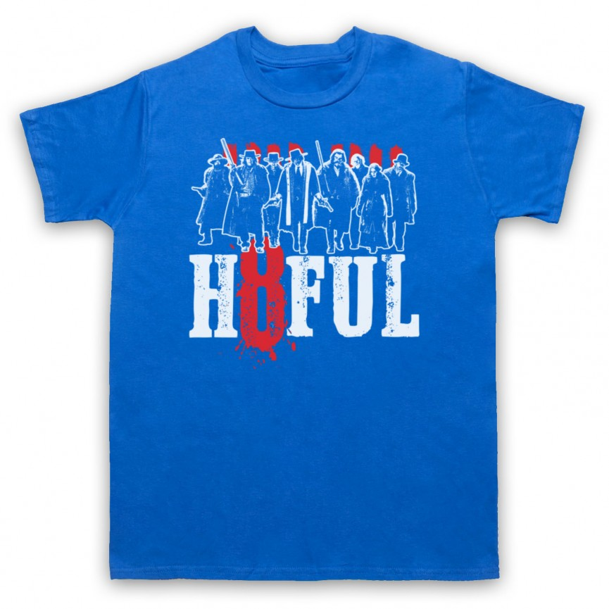 Hateful Eight H8ful Characters Mens Royal Blue T-Shirt