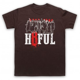 Hateful Eight H8ful Characters Mens Brown T-Shirt