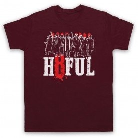 Hateful Eight H8ful Characters Mens Maroon T-Shirt