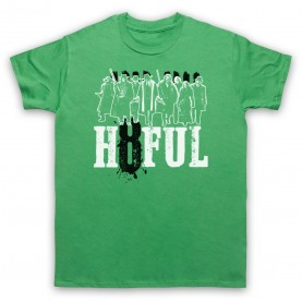 Hateful Eight H8ful Characters Mens Green T-Shirt
